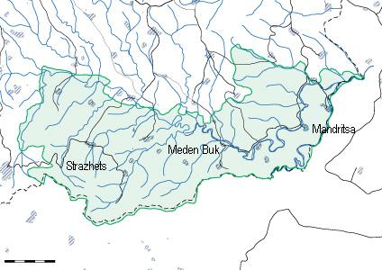 Карта на района на бяла река