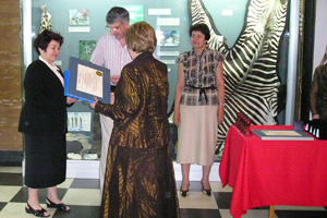 In honour of the National Holiday 24 May, the National Museum of Natural History, Sofia hosted an official meeting of Golden Book awards presentation (c) NMNHS