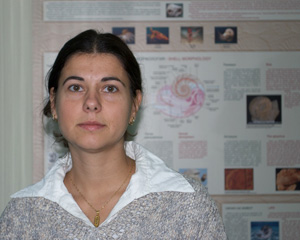 Antoaneta Ilcheva, geologist-palaeontologist, curator of Early Cretaceous corals collection. Photo: (c) S. Abadjiev